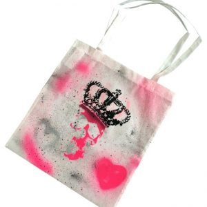 White Skull Shopping / Tote Bag by Haus of Skulls