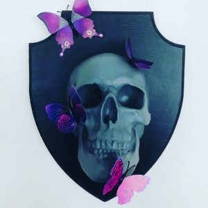 Mounted Butterfly Skull by Haus of Skulls