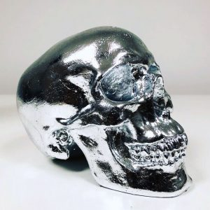 Metal Foil Leaf Skull by Haus of Skulls
