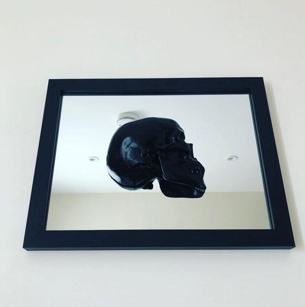 Handmade 3D Skull Mirror Frame by Haus of Skulls