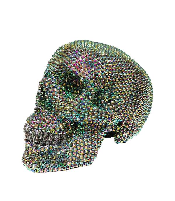 Crystal Rhinestone Skull by Haus of Skulls