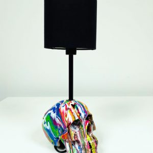 Fluid Art Skull Lamp by Haus of Skulls