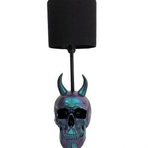 Handmade Devil Skull Lamp by Haus of Skulls