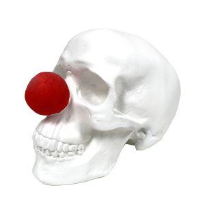 Clown Handmade Skull by Haus of Skulls