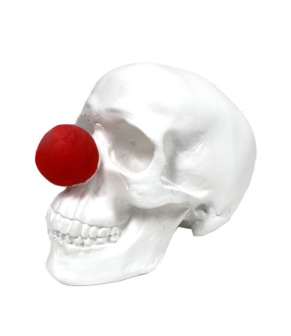 Clown Handmade Skull by Haus of Skulls
