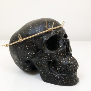 Barbed Wire Halo Skull by Haus of Skulls